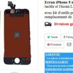 Ecran iphone 5s pas cher avec garantie 1 an
