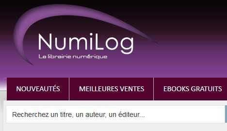 e-book sur la librairie électronique Numilog