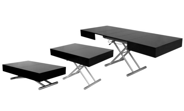 table basse relevable noire