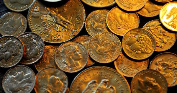 pièce de monnaie métaux précieux